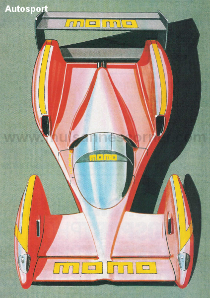 Allard J2X concept as seen in Autosport, January 2, 1992