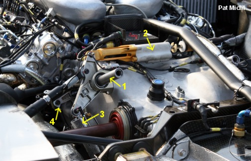 The torsion bar suspension (something else the R10 shares with the Bentley).