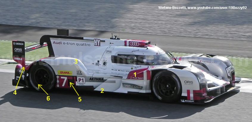Audi R18 LM, Monza test April 2015