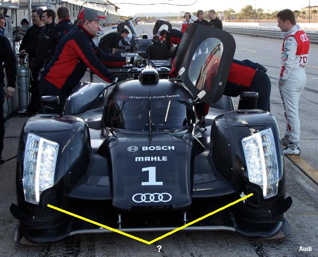 Audi R18, Sebring testing January 2011