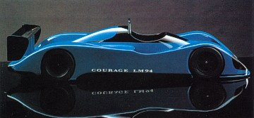 Marcel Hubert designed Courage C41 model study (Race Car Engineering V4N5)