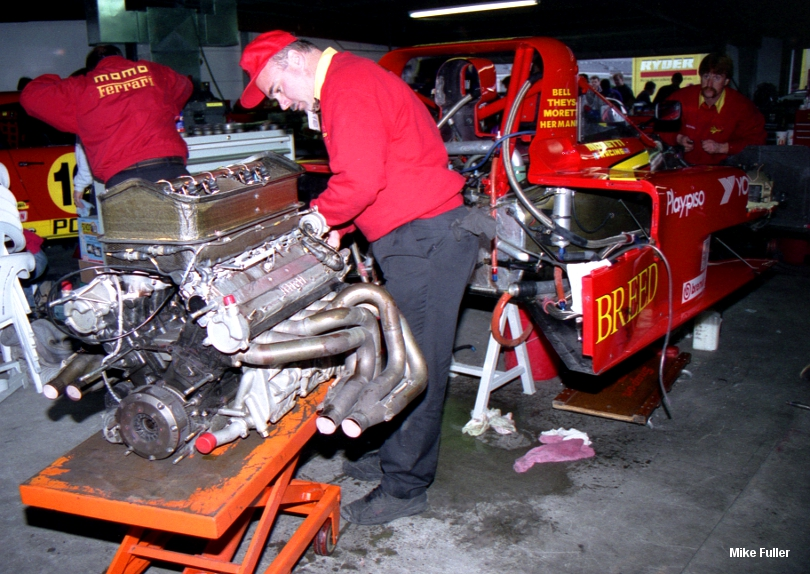 Ferrari 333 SP, engine swap Daytona 1997