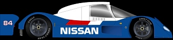 Nissan P35 proposed NPTI livery. Drawing by Ryan Hicks