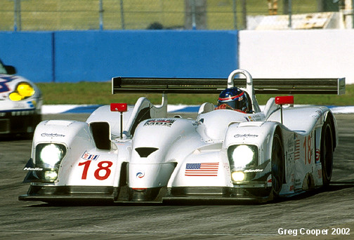 Shown here, the Mugen powered LMP07 run by the Multimatic Team during the 2002 season