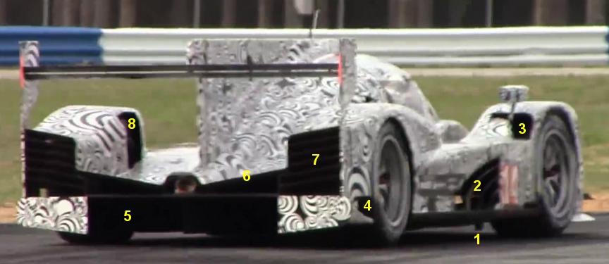 Porsche 919 LMP1 Sebring testing March 2014