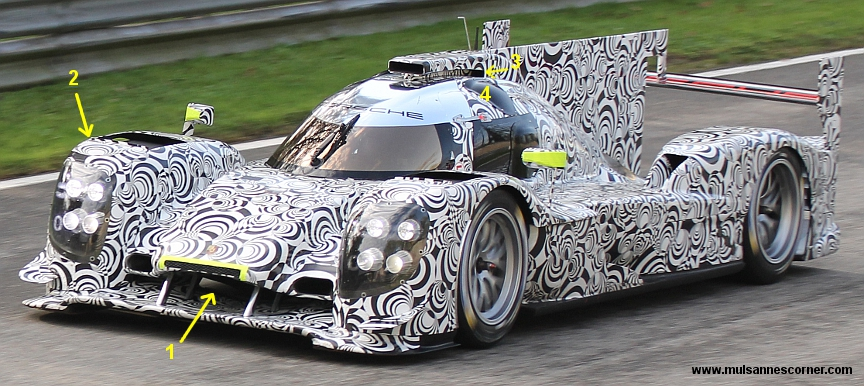 Porsche LMP1, Monza test, October 2013