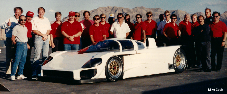 First test for the Toyota Eagle MkIII at Las Vegas Raceway, 1991.  First test.