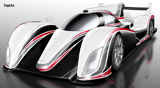 2012 Toyota gas/electric hybrid LMP1 concept
