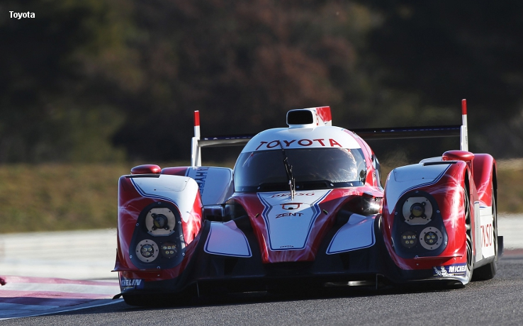 Toyota TS030, testing at Paul Ricard, April 2012