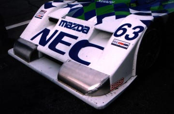Kudzu DLY nose w/test pieces affixed, Daytona Test Days 1999, Copyright Mike Fuller, 1999