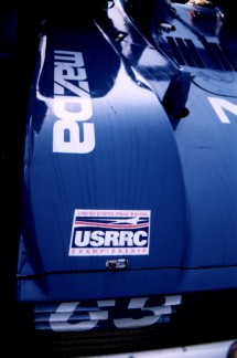 Oil drop pattern, rear of DLY, Daytona Test Days 1999, Copyright Mike Fuller, 1999